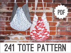 Noodlehead: PATTERNS -- Here's where you can order the pattern for the 241 Tote and other great bags.