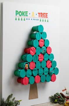 Poke-A-Tree Game #christmasgame #partygames #tree