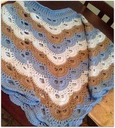 Missed Stitches Crochet: My Own Four Corner Virus Poncho