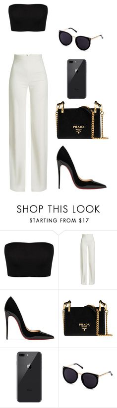 """Me x Tsovoo #1"" by kendalll0605 ❤ liked on Polyvore featuring Brandon Maxwell, Christian Louboutin and Prada"