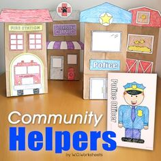 Students will have fun with this Community Helpers Activity! Create a community with 3D buildings and a class book on community helpers.