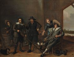 Boijmans Collection Online | Hunters resting in a barn