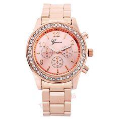 Fashion Watch Geneva Unisex Quartz Watch Women Analog Wristwatches Bling Crystal Clocks Stainless Steel Watch Relogio Reloj