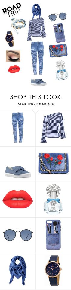 """Road Tripping pt 2"" by starrjai ❤ liked on Polyvore featuring Nine West, Boohoo, Lime Crime, Vince Camuto, Ray-Ban, Iphoria, Liberty, DKNY and GUESS"