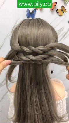 Hairdo For Long Hair, Easy Hairstyles For Long Hair, Pretty Hairstyles, Braided Hairstyles, Hairstyles With Scarves, Front Hair Styles, Medium Hair Styles, Hair Style Vedio, Hair Tutorials For Medium Hair