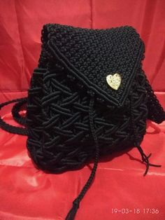 ] Macrame back pack Macrame Purse, Macrame Owl, Macrame Earrings, Macrame Jewelry, Macrame Bracelets, Granny Square Bag, Macrame Projects, Large Shoulder Bags, Knitted Bags