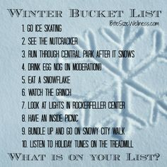 Share your healthy winter bucket list with BiteSizeWellness.com