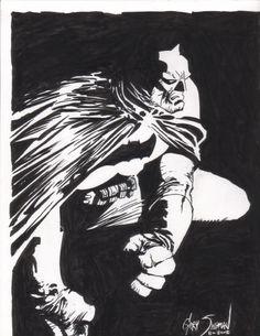 Frank Miller Batman Tribute Comic Art