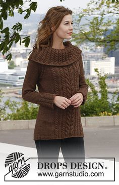 Free knitting patterns and crochet patterns by DROPS Design Sweater Knitting Patterns, Knit Patterns, Free Knitting, Drops Design, Crochet Capas, Knit Crochet, Knit Jacket, Crochet Clothes, Free Pattern