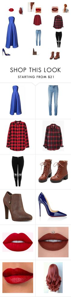 """wendy"" by fangirl-24 on Polyvore featuring Plakinger, Givenchy, H&M, Madewell, Boohoo, Nine West, Christian Louboutin, Prom, rebel and disney"