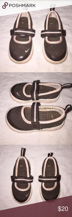 Cute Nike Mary Jane size 6 Toddler Great condition Cute Nike Mary Jane size 6 Toddler Great condition. These are perfect for summer and can be used as water shoes. Velcro closure with pink Nike logo on front of shoe. These shoes are too cute to pass up. Nike Shoes Sandals & Flip Flops