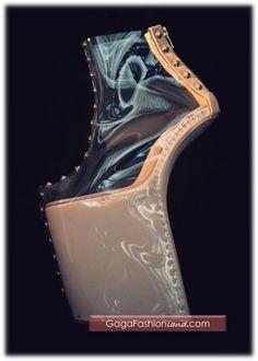 Custom Lady Gaga shoes by Noritaka Tatehana