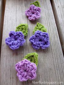 Fiber Flux...Adventures in Stitching: Free Crochet Pattern...One Round Leaf (With Stem)