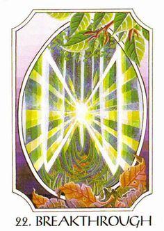 22. Breakthrough (Dagaz) - Rune Cards by Ralph Blum Illustrated by Jane Walmsley