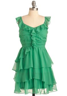 Frothy Green Sumer Dress from ModCloth