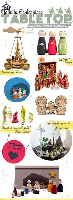 Table Top Design Christmas Nativity Centerpiece ideas by @TheCuisinerd