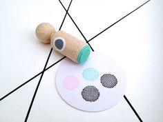 puntjes cirkel mini stempel met mintkleurig rubber #PinWinSpring