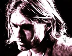 Amazing charcoal of Kurt Cobain by Artist Cole Kluesner