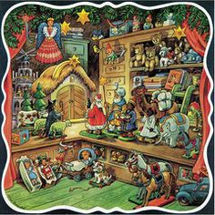 Toy Shop Advent Calendar. Read our blog entry on this wonderful Advent Calendar and Christian Ulbricht toys and ornaments.  www.mygrowingtraditions.com