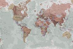 Nuestro mural de un mapamundi clásico es un bonito diseño que se asemeja al estilo retro de los mapas de los libros de texto, combinando un color maravilloso con un gran detalle. Con este magnífico mural conseguirás un diseño asombroso para la pared de cualquier habitación de la casa. El mural clásico de un mapa... Read more »