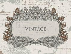 European gorgeous vintage lace Vector -2