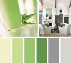 Un toque de color usando esta gama de verdes es una excelente opción para generar armonía en un espacio.