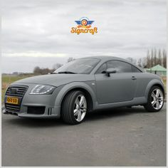 Signcraft wrapped this Audi TT in Avery Dennison #SWF Matt Anthracite Metallic.