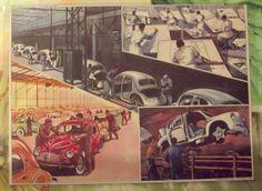 Ancienne Carte Expo Affiche Scolaire Édition Rossignol La Construction Automobile Renault 4cv Dinky Toys dans les années 1950 de la boutique nowfrenchvintage sur Etsy
