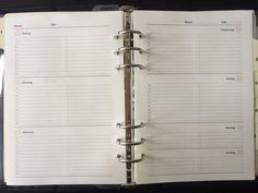 UNDATIERT Filofax A5 Woche zwei Seiten Printable door AyumisPlanner