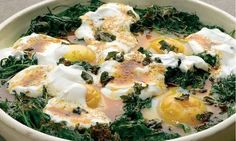 Yotam Ottolenghi's recipe for baked eggs