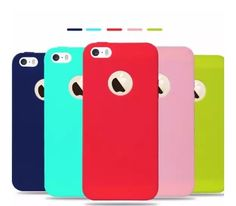 2e6cd66c844 Apple Iphone 5 6 Soft Silicone Back Cover Case In Candy Colour Shrink It  Brand.(set Of 5 Pcs) COD all over India