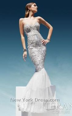 Terani Pageant Sweetheart mermaid gown with fully sequined bodice segueing into a tiered mesh and lace skirt Prom Dresses 2016, Pageant Dresses, Evening Dresses, Formal Dresses, Mermaid Skirt, Mermaid Gown, Terani Couture, Perfect Prom Dress, Designer Wedding Dresses
