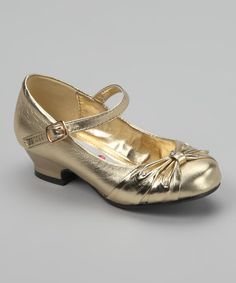 Look what I found on #zulily! Gold Rhinestone Mary Jane by Lasonia #zulilyfinds