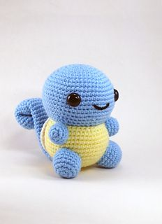 With this pattern by CraftyHanako you will lear how to knit a Amigurumi Chubby Squirtle step by step. It is an easy tutorial about squirtle to knit with crochet or tricot. Pokemon Crochet Pattern, Crochet Animal Patterns, Stuffed Animal Patterns, Crochet Patterns Amigurumi, Amigurumi Doll, Crochet Animals, Crochet Dolls, Stuffed Animals, Kawaii Crochet