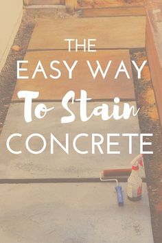 Looking for a beautiful budget-friendly and easy way to stain concrete?These concrete glazes couldn't be easier and give tons of variety and texture.Click through to see how easy it is!