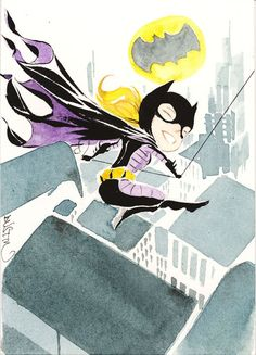Lil'Stephanie Brown by Dustin Nguyen Nightwing, Batgirl, Comic Book Heroes, Comic Books, Dustin Nguyen, Stephanie Brown, Batman Family, Tim Drake, Christopher Nolan