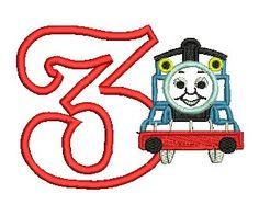 Thomas Applique Embroidery Design, Thomas the Train, Applique Thomas, Train Applique (C50)
