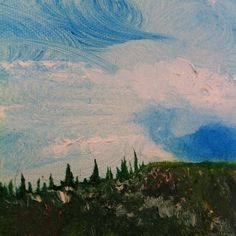 tuscan cloudscape - part image of my original oil painting