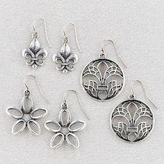 Set of 3, Fleur Trio Earrings $9.99