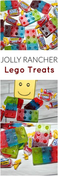 Jolly Rancher Lego Treats - perfect for Valentine's Day or a Lego Themed Party