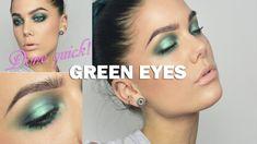 Green make up - Linda Hallberg make up tutorials. Done quick