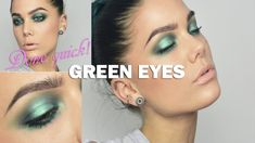 Green make up - Linda Hallberg make up tutorials. Done quick