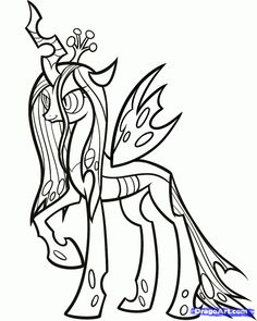 My Little Pony Queen Chrysalis Coloring Pages Coloring Coloring