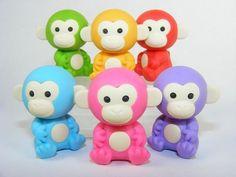 Kawaii Scimmietta Monkey Gomma Rubber Collezione Eraser