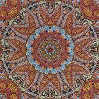 Салфетка для декупажа, 0996, Красно-голубой круговой узор