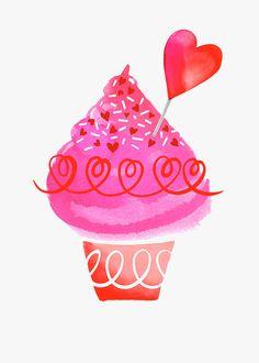 Margaret Berg Art: Love Cupcake