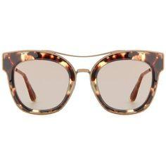 Bottega Veneta Cat-Eye Sunglasses ($445) ❤ liked on Polyvore featuring accessories, eyewear, sunglasses, brown, brown sunglasses, bottega veneta glasses, brown glasses, cat eye sunglasses and bottega veneta