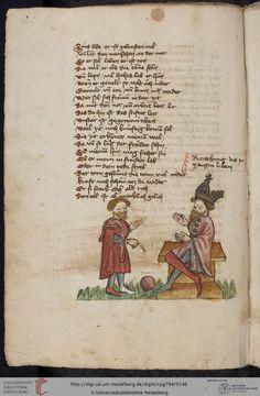 Cod. Pal. germ. 794: [Ulrich] Boner: Edelstein (Schwaben (Oberrhein?), um 1410/1420), Fol 69v