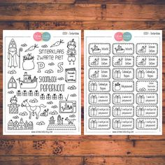 Two sheets of Sinterklaas stickers in a kit!  These planner stickers are designed to fit various planners including but not limited to Erin Condren, Happy Planner, Day Designer, Inkwell, Plum Paper and Filofax!  - Each sheet is approximately 5.7 x 4.3 inches (or 14.5 x 11 cm). - All stickers are printed on non-removable matte white adhesive paper. - Stickers are kiss-cut for easy removal. - All artwork is hand drawn and created by Calime Create. Please let me know if you need customization…