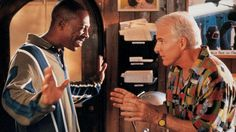 Eddie Murphy and Steve Martin in Bowfinger Very Funny Movies, Funny Films, Frank Oz, Steve Martin, Eddie Murphy, Film Institute, Hits Movie, Belly Laughs, Hollywood Star
